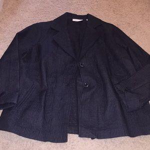 Black Quilted Blazer